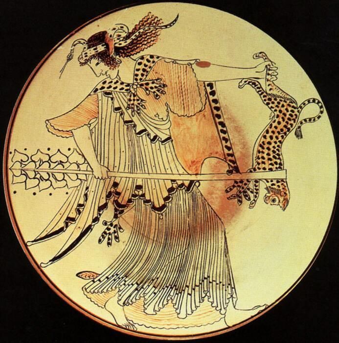 Менада, античная фреска. \ Фото: social.shorthand.com.