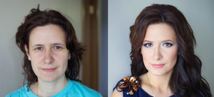Чудеса случаются, макияж справляется. Визажист: Вадим Андреев.