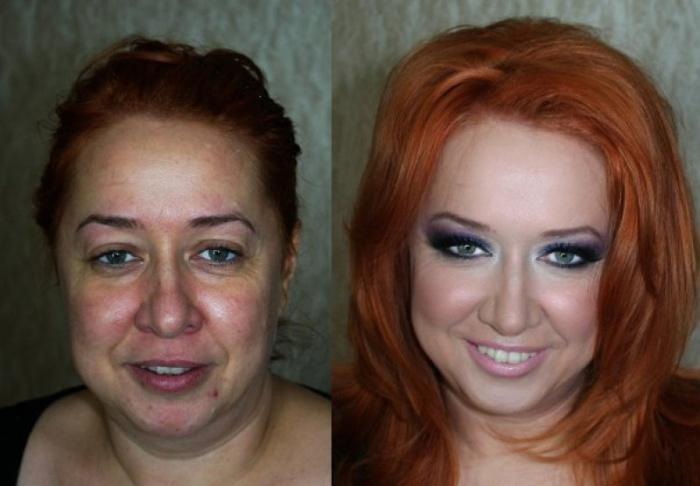 Чудесные преображения с помощью макияжа. Визажист: Вадим Андреев.