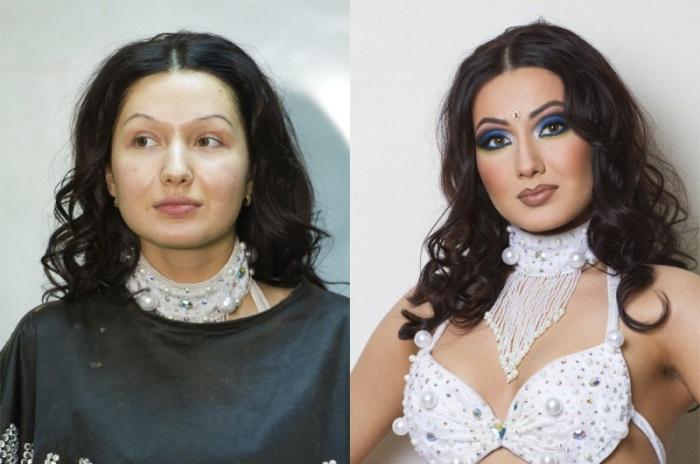 Да, да, макияж он такой, способный на многое. Визажист: Вадим Андреев.