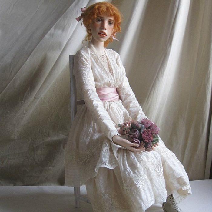 Куклами Михаила можно любоваться бесконечно долго, ведь они настолько притягательны и хороши собой, что глаз не отвести.