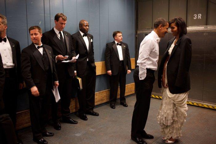 Трогательный момент, инаугурация, Вашингтон, 20 января 2009 года.