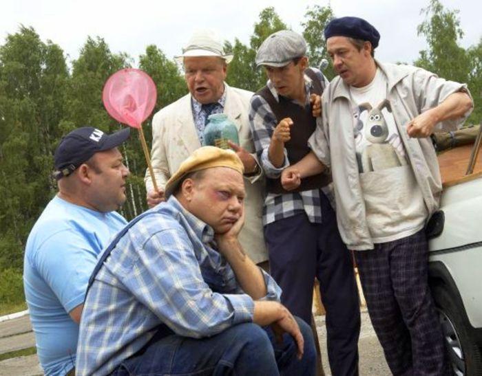 На съёмках фильма «Святое дело». \ Фото: wp.wiki-wiki.ru.