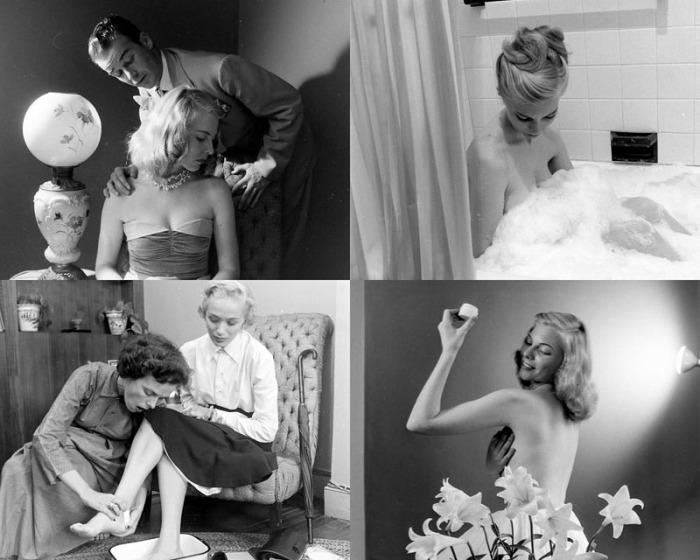 Будни американского модельного агентства 1948 года.