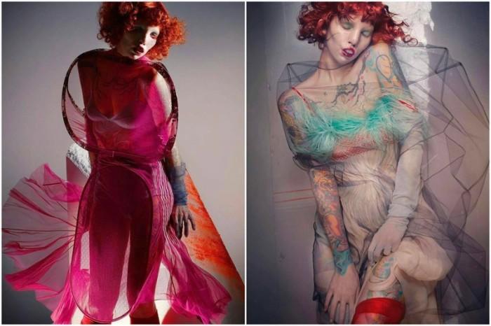 Девушка стала знаменита после того, как её заметил скандальный британский фотограф Ник Найт и пригласил на съёмки обложки журнала V Magazine.