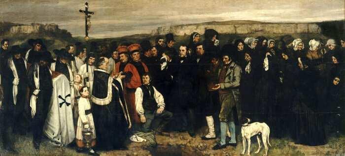 Похороны в Орнане, Гюстав Курбе, 1850 год. \ Фото: kerdonis.fr.