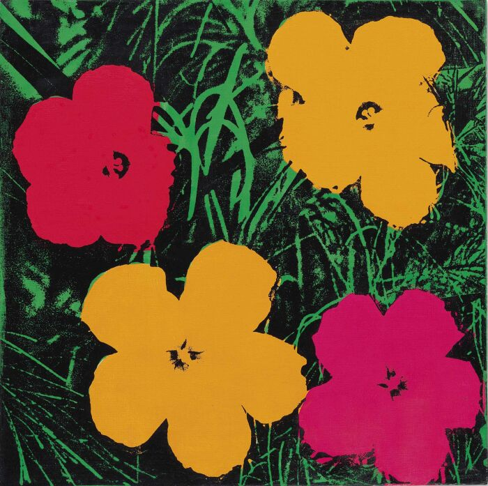 Цветы Энди Уорхола, 1964 год. \ Фото: tumgir.com.