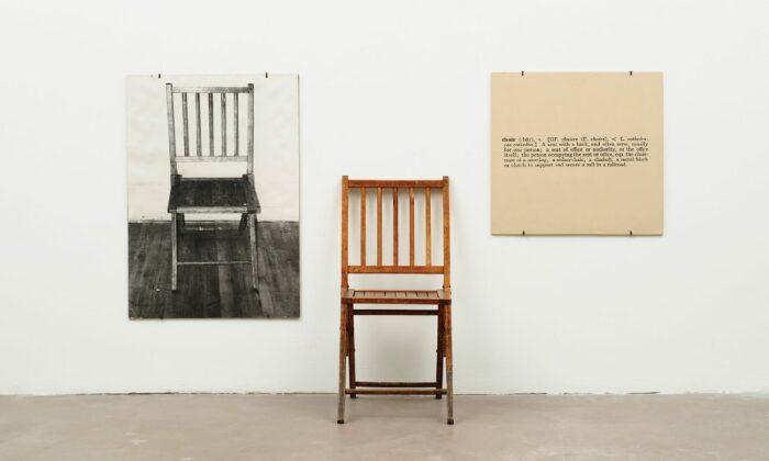Один и три стула, Джозеф Кошут, 1965 год. \ Фото: blogspot.com.