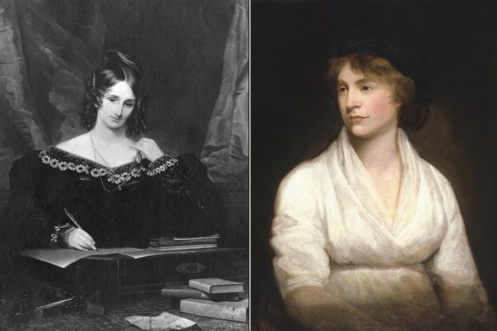Слева: Мэри Шелли. \ Справа: Женщина-философ Мэри Уолстонкрафт. \ Фото: ru.wikipedia.org.