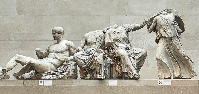 Мрамор Парфенона, работы Фидия, V век до н. э. \ Фото: pinterest.ru.