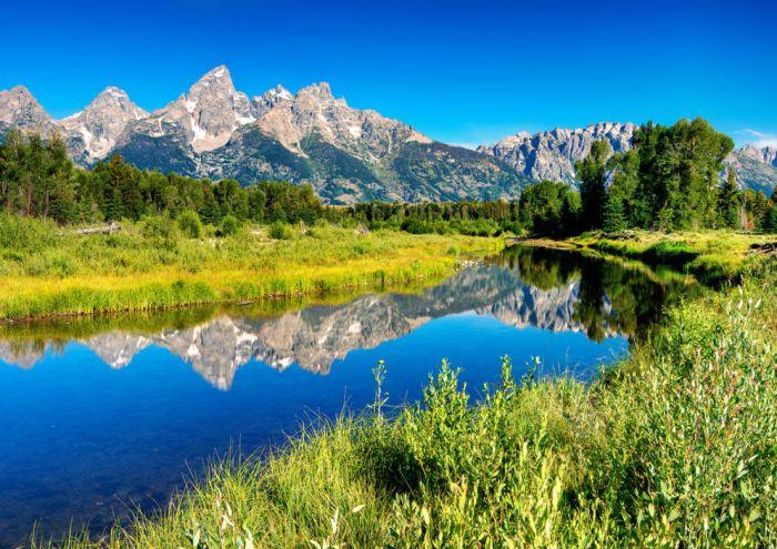 Красочный пейзаж Beaver Pond.