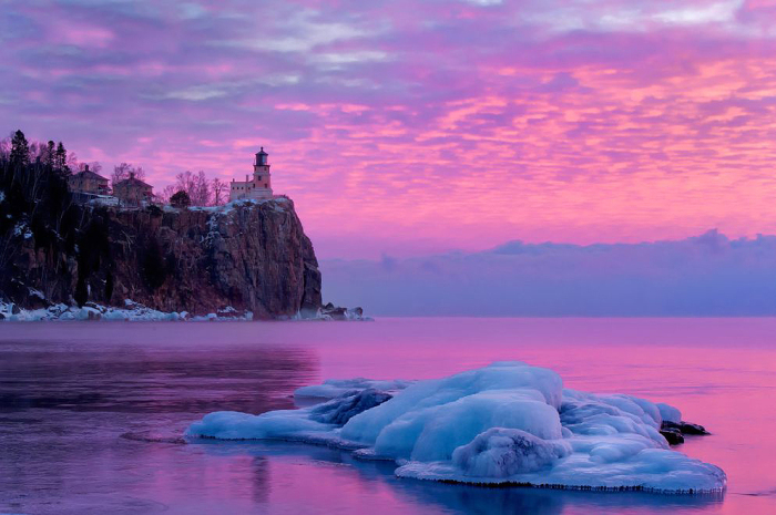 Пурпурный закат.
