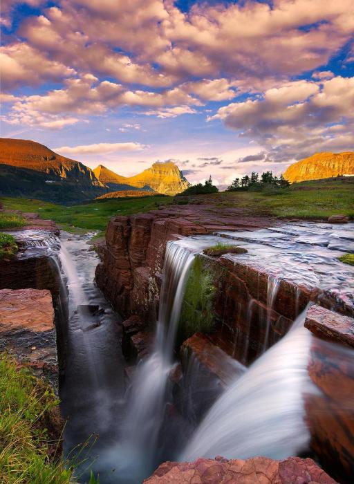 Водопад Triple Falls.