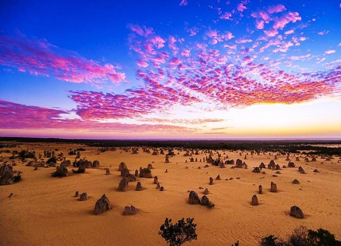 Закат в Западной Австралии.