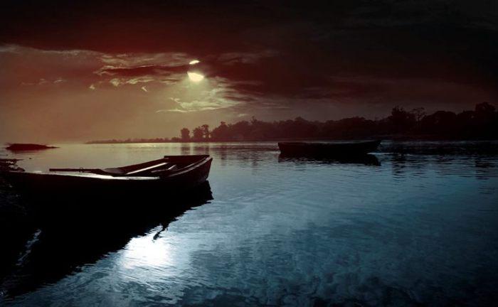 Лодка. Путешествие в ночь.