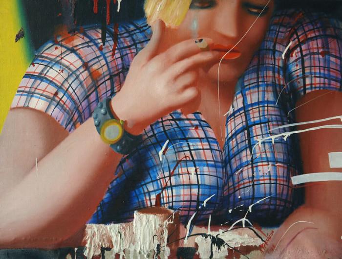 Женщина с сигаретой. Автор: Ольга Гречина.