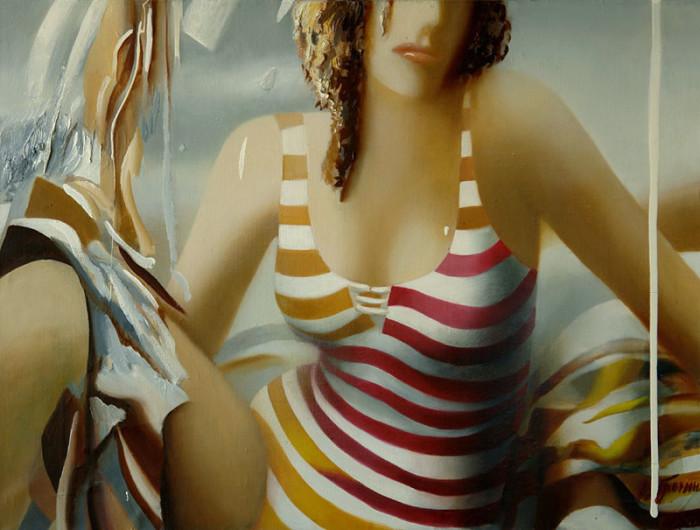 Полосатый купальник. Автор: Ольга Гречина.