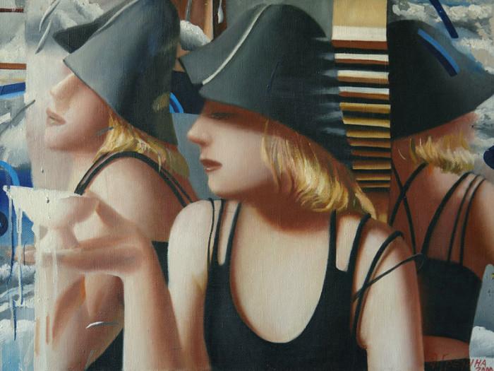 Девушка с пиалой. Автор: Ольга Гречина.