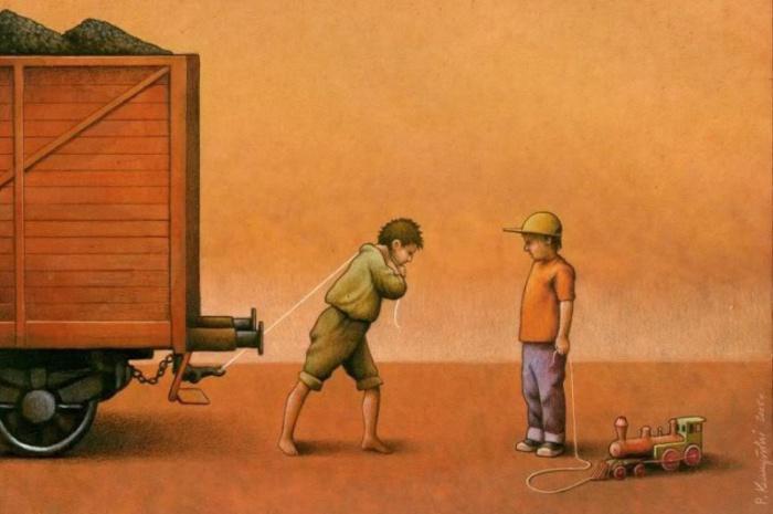 Разное детство. Автор: Pawel Kuczynski.