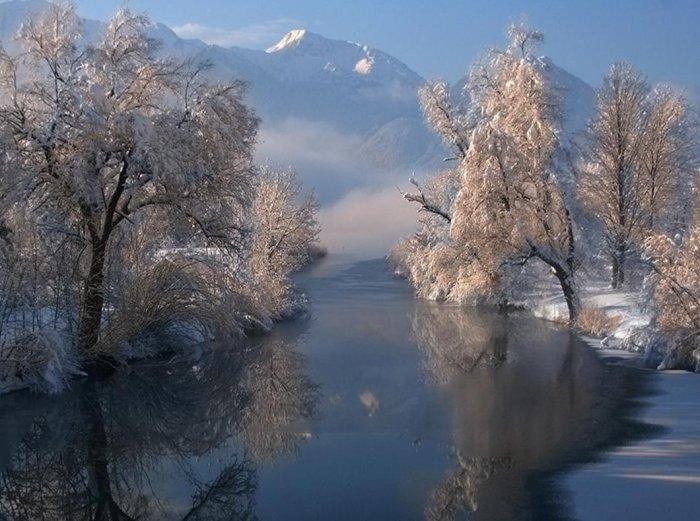 Горы и озера Финляндии.