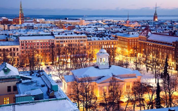 Огни Финляндии.