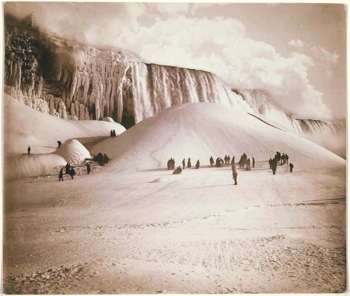 Замёрзший Ниагарский водопад. \ Фото: twitter.com.
