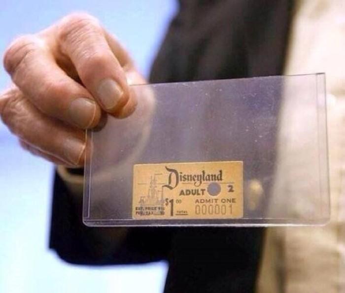 Первый проданный билет в Диснейленд. \ Фото: demotywatory.pl.