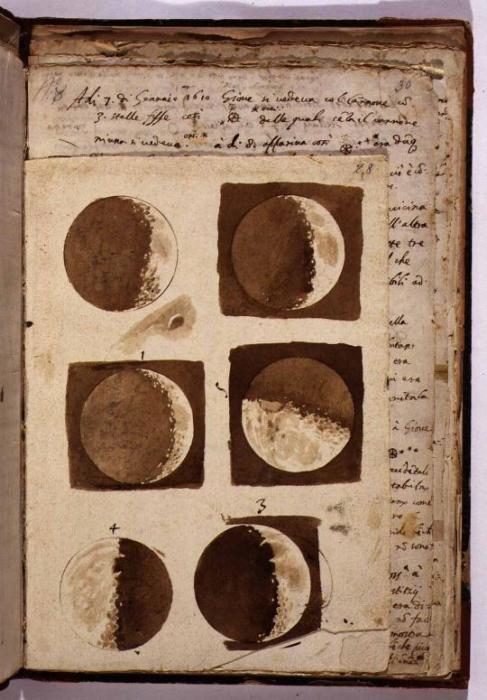 Рисунки Луны Галилео Галилея. \ Фото: imgur.com.