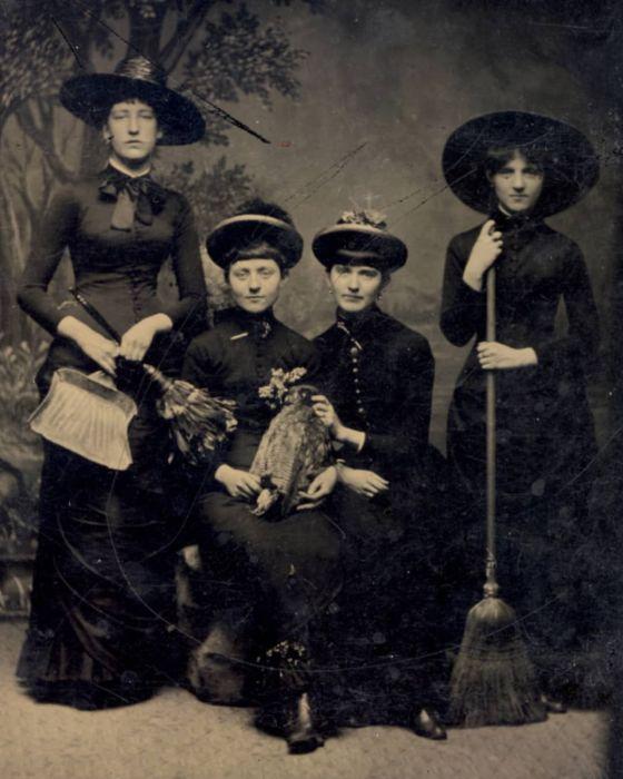 Викторианские ведьмы. \ Фото: pinterest.com.