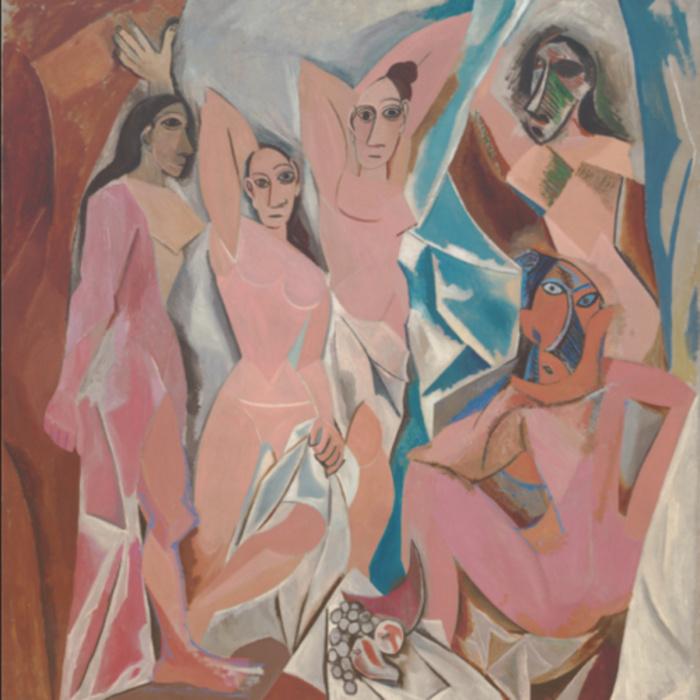 Авиньонские девицы, Пабло Пикассо, 1907 год.
