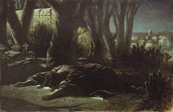 Василий Григорьевич Перов — «Христос в Гефсиманском саду», 1878 год.