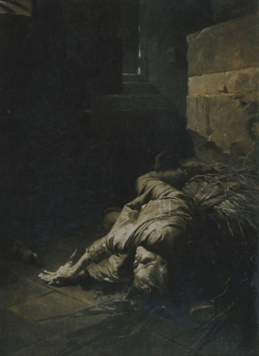 Альфонс Муха - «Самоубийство Петра из Лозы», 1898 год.