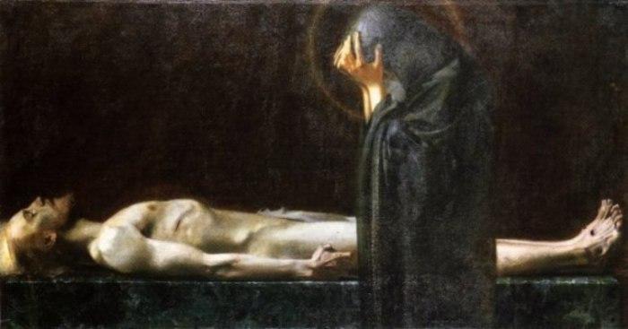 Франц фон Штук - Пьета, 1891 год.