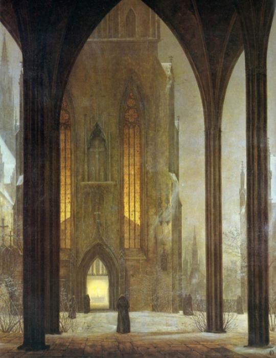 Эрнст Фердинанд Эме - «Собор зимой», 1821 год.