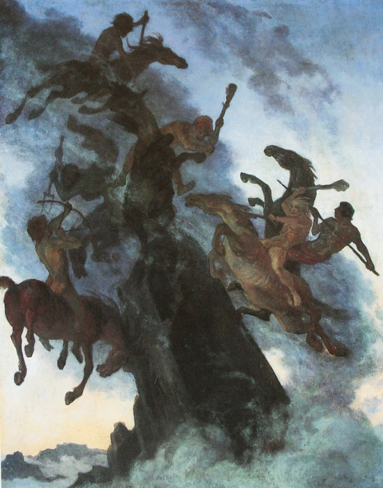 Альберт Вельти - «Nebelreiter», 1896 год.