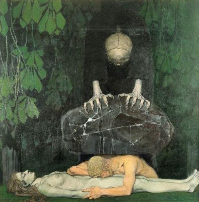 Oskar Zwintscher — «Grief» («Горе»), 1898 год.
