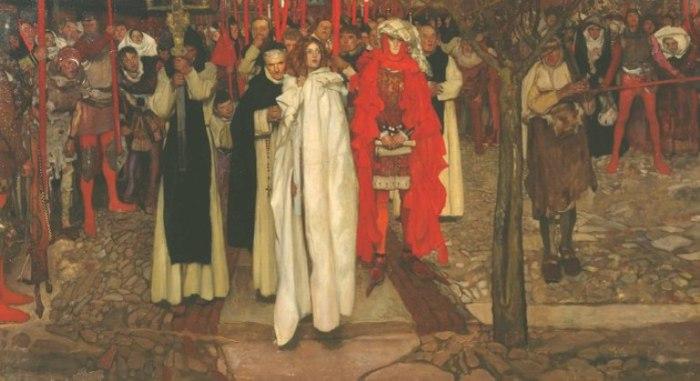 «Еретик» (The Heretic), 1906 год. Художник Фрэнк Крейг (Frank Craig).