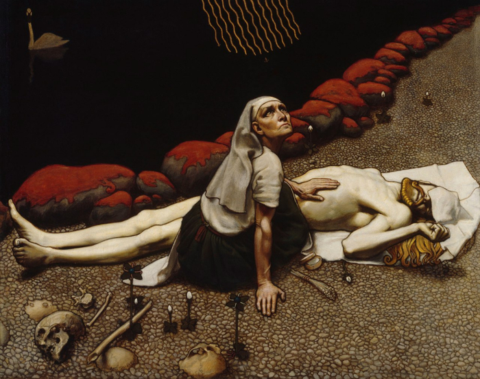 Аксели Гален-Каллела — «Мать Лемминкяйнена», 1897 год.