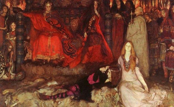 Эдвин Остин Эбби — «The Play Scene in Hamlet», 1897 год.