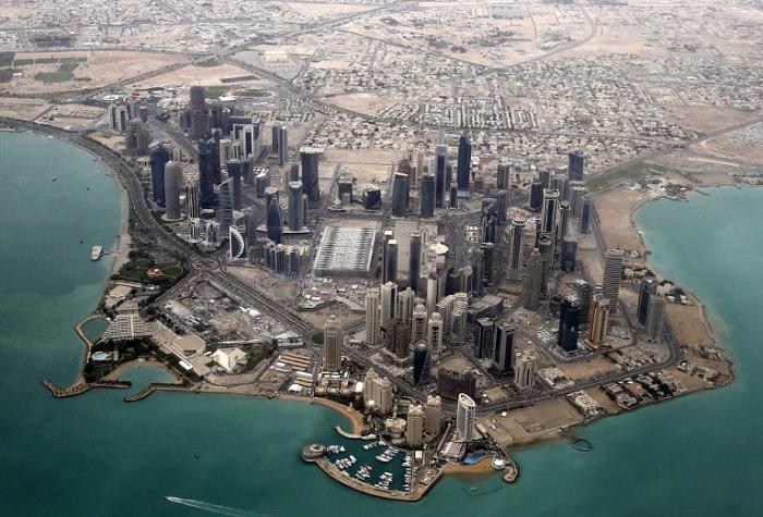 Деловой район Дохи. Фото Fadi Al-Assaad.