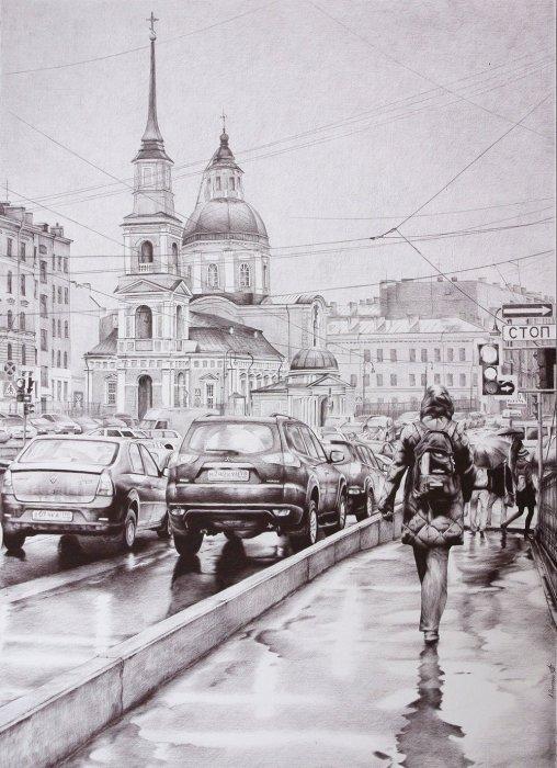 Дождливый Петербург, 2012 год. Автор: Андрей Полетаев.