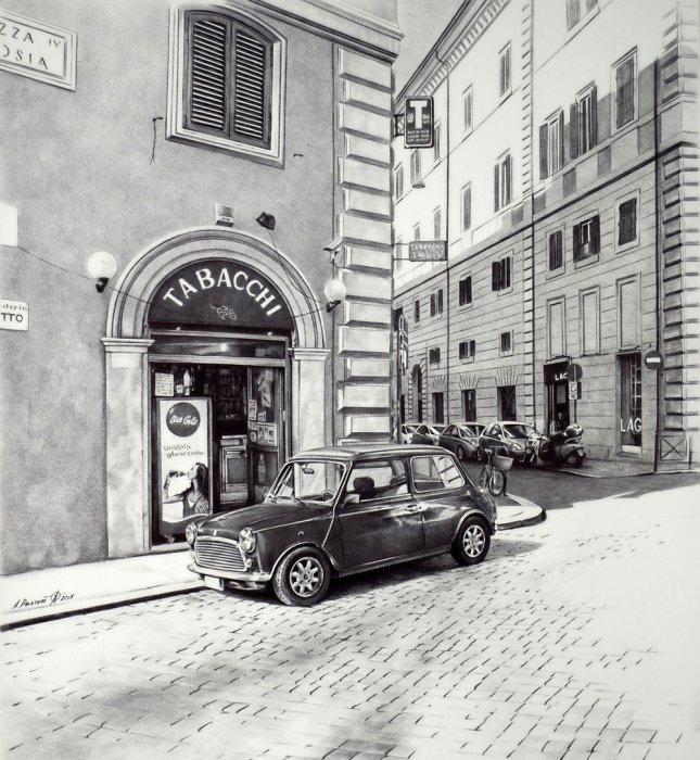 Тихая улица в Риме, 2015 год. Автор: Андрей Полетаев.