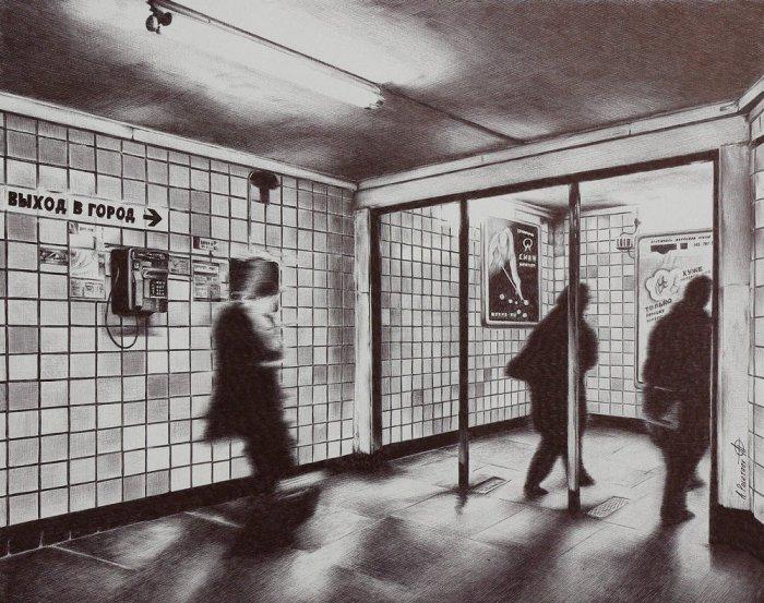 Подземный переход, 2012 год. Автор: Андрей Полетаев.