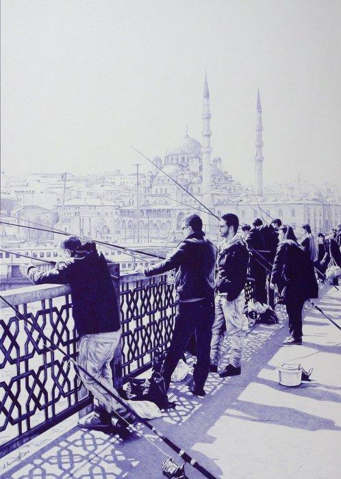 Рыбаки в Стамбуле, 2013 год. Автор: Андрей Полетаев.