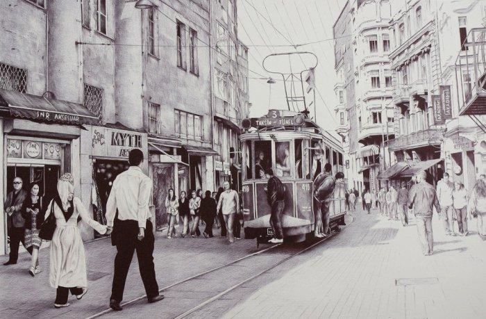 Старинный трамвай, Стамбул, 2012 год. Автор: Андрей Полетаев.
