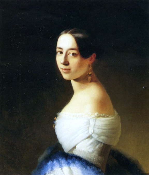 Художник - Нефф Т. Портрет Полины Виардо 1842 год.