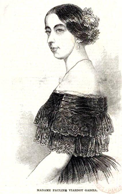 Полина Виардо. Гравюра 1848 год.