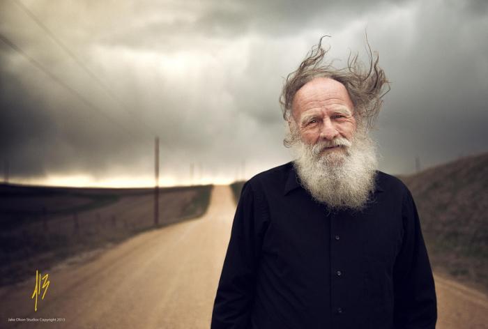 Старик и буря. Автор фото: Студия Джейка Олсона.