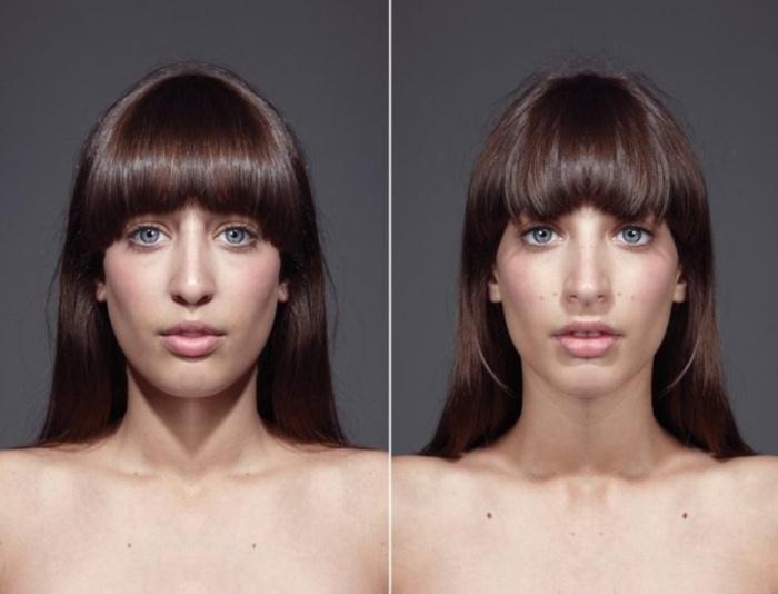 Симметрия лица от Julian Wolkenstein и Alex John Beck.