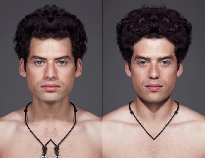 Симметричные портреты от Julian Wolkenstein и Alex John Beck.